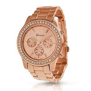 Accessories - Geneva rose gold watch